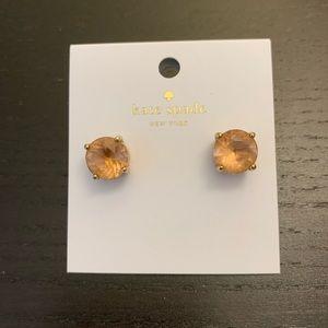 Kate Spade light peach gumdrop earrings *used*